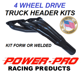 4 WHEEL DRIVE TRUCK HEADER KITS