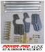 POWER PRO 4 LINK KIT ALUMINUM BARS W/ADJ SK BRACKETS   - 01-4LKADJSKIT-A